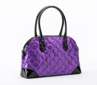 Rock Rebel Purple Mina Quilted Handbag with Bats Purse by GG Rose