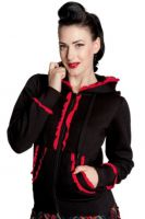 Hell Bunny Black and Red Gothic Bunny Hoodie
