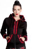 Hell Bunny Black and Red Gothic Bear Hoodie