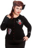 Hell Bunny Plus Size Gothic Black Vampire Coffin Cardigan