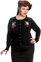 Hell Bunny Plus Size Gothic Black Sugarskull Cat Spider Cardigan
