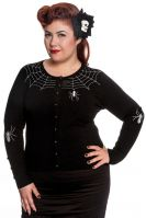Hell Bunny Plus Size Gothic Black Spiderweb Cardigan