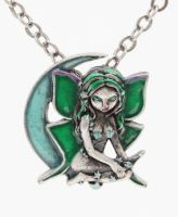 Luna Fairy Necklace by Jasmine Becket Griffith