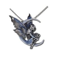 Blue Moon Diva Fairy Necklace by Amy Brown