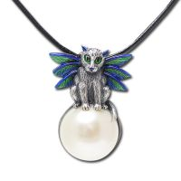 Bubble Fairy Cat Necklace by Carrie Hawks