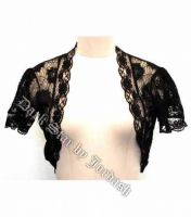 Dark Star Black Lace Gothic Bolero Shrug