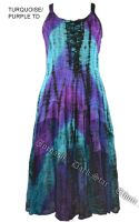 Dark Star Plus Size Turquoise and Purple Gothic Corset Long Gown