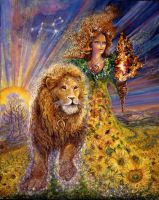 Leo Zodiac Collector's Card by Josephine Wall