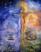 Libra Zodiac Collector's Card by Josephine Wall