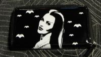 Universal Monsters Lilly Munster Black Shiny PVC Wallet