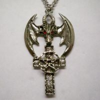 Dragon Pentacle Cross Necklace