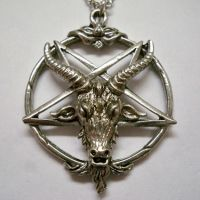 Goat Head Inverted Pentacle Necklace