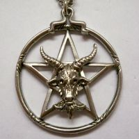 Goat Head Pentacle Necklace