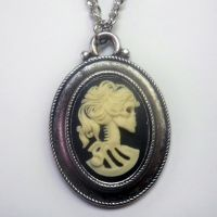 Classic Skeleton Cameo Necklace