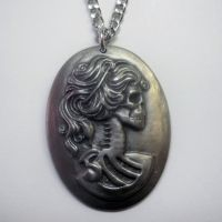 Pewter Lolita Cameo Necklace
