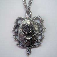 Rose In Thorns Cameo Necklace