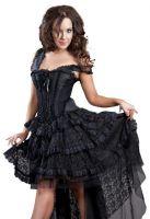 8b2b43ad8 Burleska Plus Size Ophelie Gothic Black Taffeta Corset Dress
