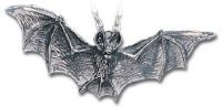 Alchemy Gothic Darkling Bat Pendant Necklace