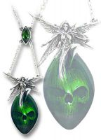 Alchemy Gothic Absinthe Fairy Pendant Necklace.