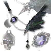 Alchemy Gothic The Raven Pendant Necklace