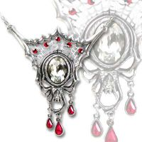 Alchemy Gothic Mask of Venom Pendant Necklace