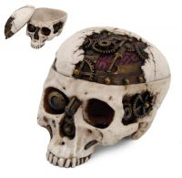 Mechanized Steampunk Skull Box