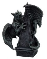 Gargoyle Perched on a Spire Statue