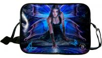 Gothic Blue and Purple Mystical Butterfly Fairy Immortal Flight Side Bag by Anne Stokes