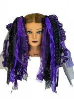Purple and Black Gothic Ribbon Hair Falls by Dreadful Falls