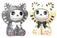 Mao-Mao Furrybones Grey and Yellow Salt and Pepper Shakers