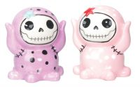 Octopee Furrybones Purple and Pink Salt and Pepper Shakers