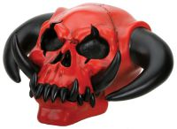 Red and Black Demon Skull