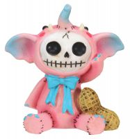 Pink Elefun Furry Bones Skellies Figurine
