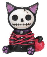 Black Mao-Mao Kitty Furry Bones Skellies Figurine