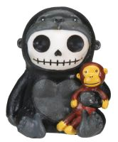 Kongo Gorilla Furry Bones Skellies Figurine