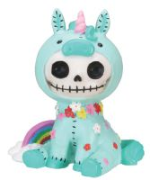 Unie Unicorn Furry Bones Skellies Figurine