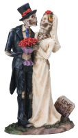 Love Never Dies Wedding Skeletons Wedding Cake Topper