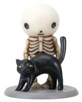 Lucky Sees a Black Cat Skellies Figurine