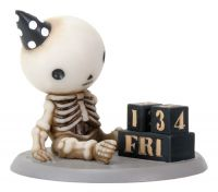 Lucky on His Birthday Skellies Figurine