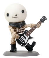 Rockstar Lucky on Guitar Skellies Figurine
