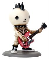 Rockstar Lucky on Bass Skellies Figurine