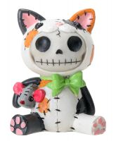 Calico Mao Mao Furry Bones Skellies Figurine
