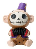 Fez Munky Furry Bones Skellies Figurine
