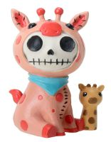 Kirin Giraffe Furry Bones Skellies Figurine