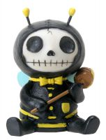 Bumble Bee Buzz Furry Bones Skellies Figurine