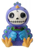 Peacock Dandy Furry Bones Skellies Figurine