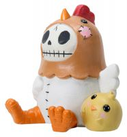Nugget Rooster Furry Bones Skellies Medium Figurine
