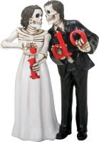 "Love Never Dies Skeletons ""I Do"" Figurine Wedding Cake Topper"