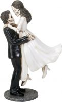 Love Never Dies Skeletons Figurine Wedding Cake Topper