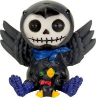 Leopold Black Crow Furry Bones Skellies Figurine